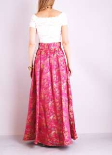 BROCADE Cummerbund HIGH WAIST Sweep Supermodel Maxi Dress SKIRT