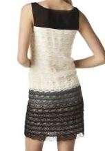 BEHNAZ SARAFPOUR Target GO Silk Georgette Lace Dress