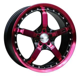 17 HD TUNING COOL DOWN PINK RIMS MUSTANG CIVIC CALIBER FUSION NITRO