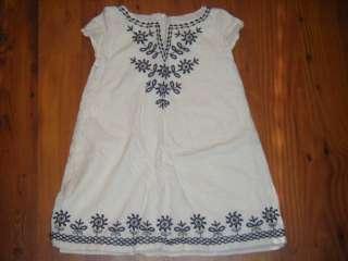 Gap Kids Summer Nights Black Cream Dress 4/5 XS tunic