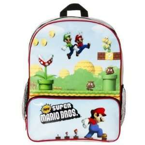 Super Mario Brothers Luigi Backpack School Bag Large Sports