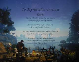 TO MY BROTHER IN LAW PERSONALIZED POEM BIRTHDAY OR CHRISTMAS GIFT
