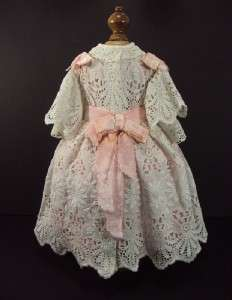 Lace Dress for Antique 20 21 JUMEAU BRU Steiner Bebe Doll