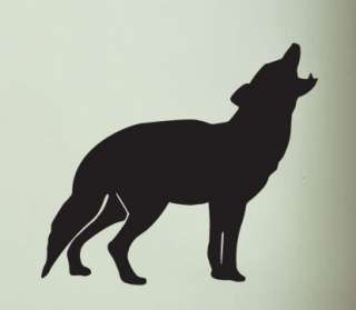 Vinyl Wall Decal Sticker Howling Wolf 35x40 Big