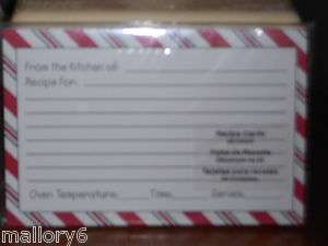 STUDIO 18 RECIPE CARDS SIZE 4 X 6 INCHES   20 CARDS PER PACKAGE