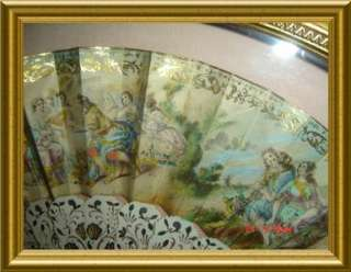 This GORGEOUS pair of framed fans are consignments from a very