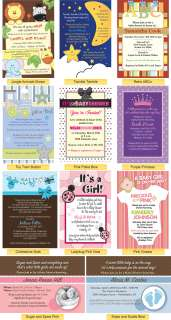 BUY ONE GET ONE FREE Custom Baby Shower Invitations