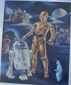Star Wars Droids 1978 Movie Poster C3PO R2D2 Dawn Soap