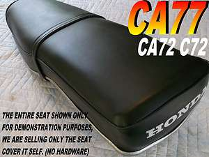 CA72 Replacement seat cover for Honda C72 C77 Dream 250 305 Black 119A