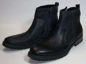 STEVE MADDEN Mens Nockdown Leather Boots Black 10.5D