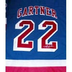 Mike Gartner Memorabilia Signed New York Rangers Authentic