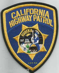 California Highway Patrol   Eureka shoulder police patch (fire)