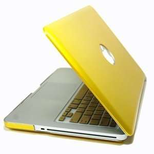 Yellow hard case cover + Gold Metallic Keyboard cover for Macbook