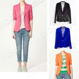 West Women Candy Color Business Suits Elegant OL Lady Formal Coat