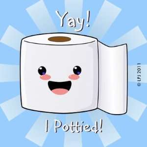 Potty Training Reward Petey TP Stickers Arts, Crafts