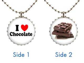 NECKLACE Style #1 Love Heart Sweet Candy Confection Gift Food Pendant