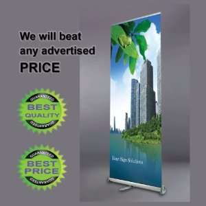 DELUXE 24 Wide Retractable Banner Stand + Free Print
