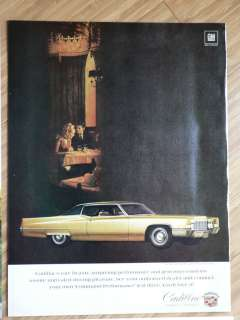 Lot of 8 Cadillac Automobile Car Ads from 1960s Ad Set