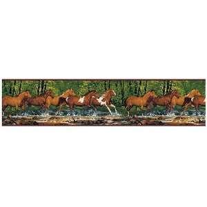 Spring Creek Horses Wallpaper Border