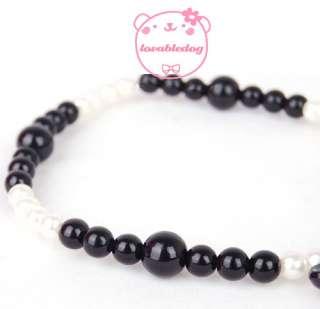 Dog Pet Pearl Necklace Cartoon Charm Jewelry S M L