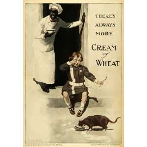 1908 Ad Cream Wheat Black Americana Cereal Rasmus Crying