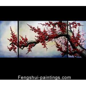 Chinese Feng Shui Chinese Painting Oil on Canvas Abstract