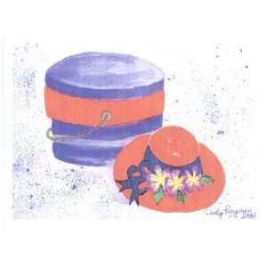 Red Hat and Hat Box Notecards for the Young of Heart