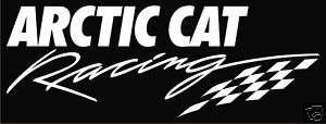 Arctic Cat Racing Snowmobile Vinyl Decal Sticker