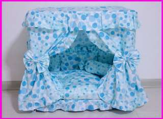 Prince Dog Cat handmade bed house Blue S,M