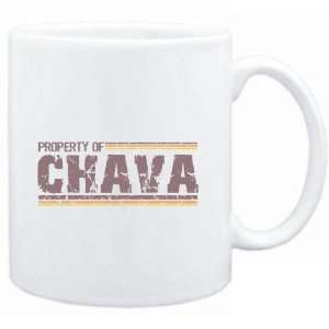 Mug White  Property of Chava   Vintage  Female Names