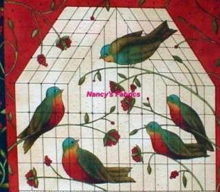 Bird Song Cotton Fabric Block Panel Moda Fabrics