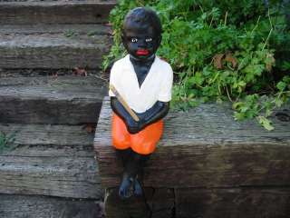 Fishing Boy (Black Lawn Jockey)