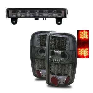 00 06 Chevy Surburban Smoke LED Tail Lights + LED 3RD Brake Light