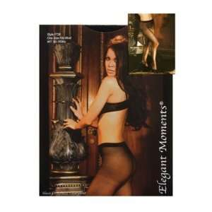 Sheer Crotchless Pantyhose O and S Black: Health