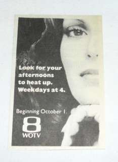 1984 small WOTV tv ad ~ CHARLIES ANGELS Jaclyn Smith