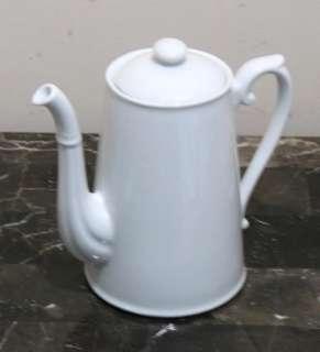 NEW Williams Sonoma APILCO Tall Coffee Pot ~ WHITE French Porcelain
