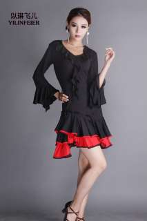 salsa cha cha tango Ballroom Dance Dress Top & Skirt #P093