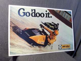 Snowmobile GO DO IT 77.5 ski doo rotax bombardier snopro sled poster