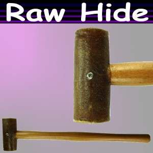 11 Leather Rawhide Mallet Multi purpose Hammer Tool