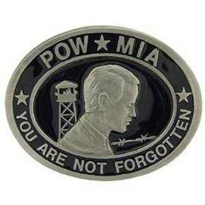 Vietnam POW MIA You Are Not Forgotten Belt Buckle Enamel