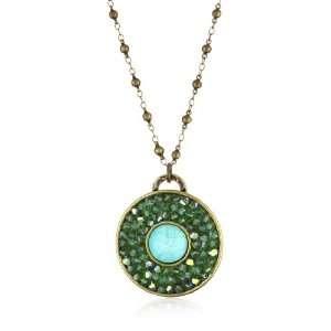 Liz Palacios Circulo Pacific Opal Crystal Circle Turquoise Inset