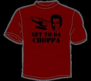 GET TO DA CHOPPA T Shirt MENS funny vintage 80s retro
