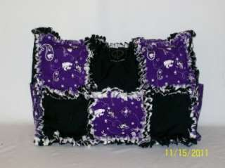 STate Purple Rag Quilt Diaper Bag Tote Purse GREAT GIFT IDEA