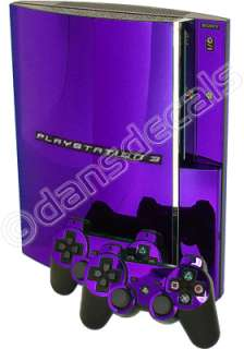 PURPLE CHROME SKIN for PS3 Playstation 3 system mod kit