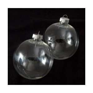 Clear Plastic Round Ball Ornaments   The Look of Glass Ornaments