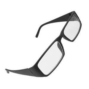 Black Frame Arms Full Rim Clear Lens Plano Eyeglasses