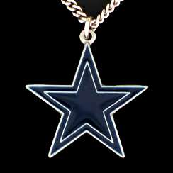 NFL DALLAS COWBOYS Pewter Logo 20 Chain Necklace
