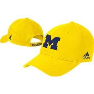 Michigan Wolverines adidas Basic Logo Structured Adjustable Hat