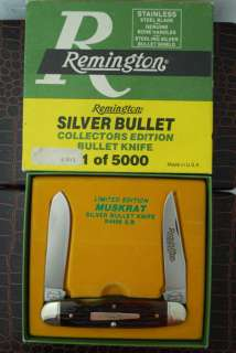 REMINGTON USA 1/5000 PURE SILVER BULLET MUSKRAT KNIFE