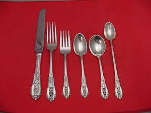 ROSE POINT BY WALLACE STERLING SILVER DINNER SIZE FLATWARE SET SERVICE